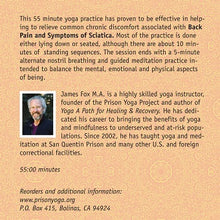 Yoga for Back Pain and Symptoms of Sciatica with James Fox (DVD)