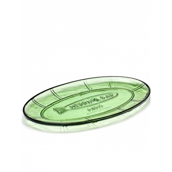 Small Oval Dish - Transparent Green