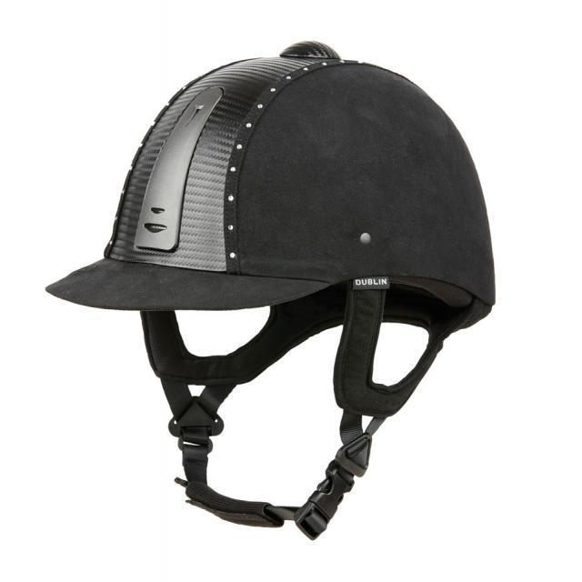 Dublin Platinum Diamante Carbon Helmet