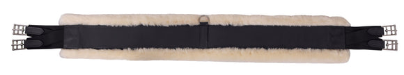 Platinum Straight Leather Girth Sheepskin Backed