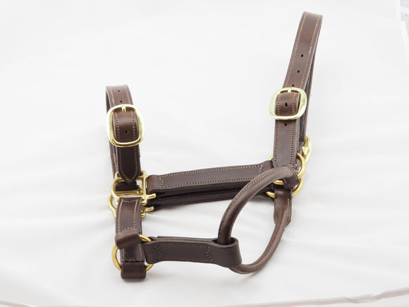 Summit Grains Leather Halter Double Buckle