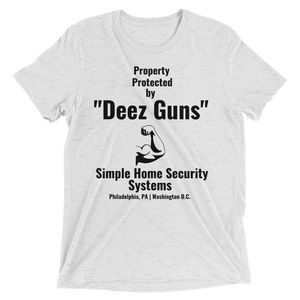 """Deez Guns"" Simple Home Security Systems - Men's Short sleeve t-shirt"