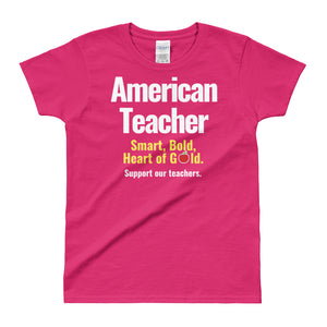 American Teacher Ladies' T-shirt