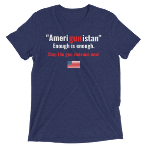 """Amerigunistan""  Anti-gun Violence - Men, Short sleeve t-shirt"