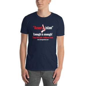 """Amerigunistan"" Navy Blue Short-Sleeve Unisex T-Shirt"