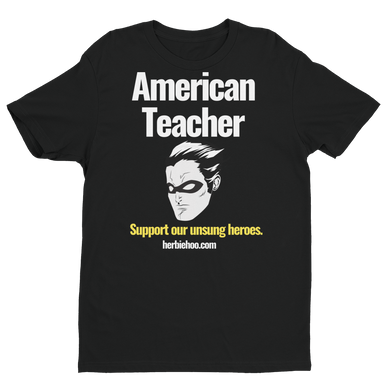 American Teacher - Men's - Black Short Sleeve T-shirt