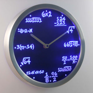 Math Teacher - Algebra Formula Neon LED Wall Clock