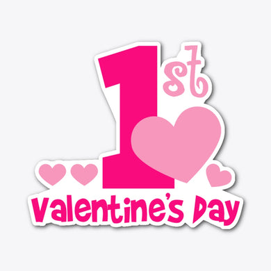 1st Valentines Day Sticker