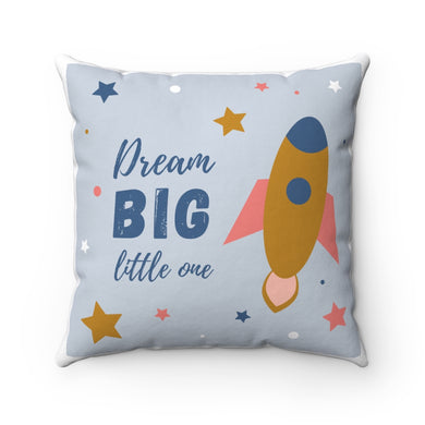 Dream Big Polyester Square Pillow Case