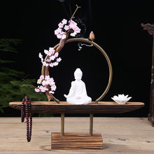 Peaceful Buddha Backflow Incense Burner Holder Kit