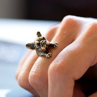 Realistic French Bulldog Ring