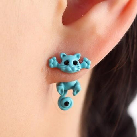 High Hangin Kitty Earrings