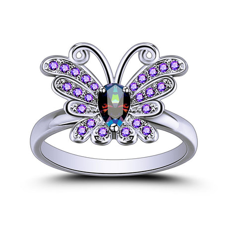 Floating Grace™ Butterfly Crystal Ring