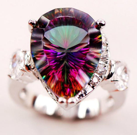 Mystic Rainbow Topaz Ring