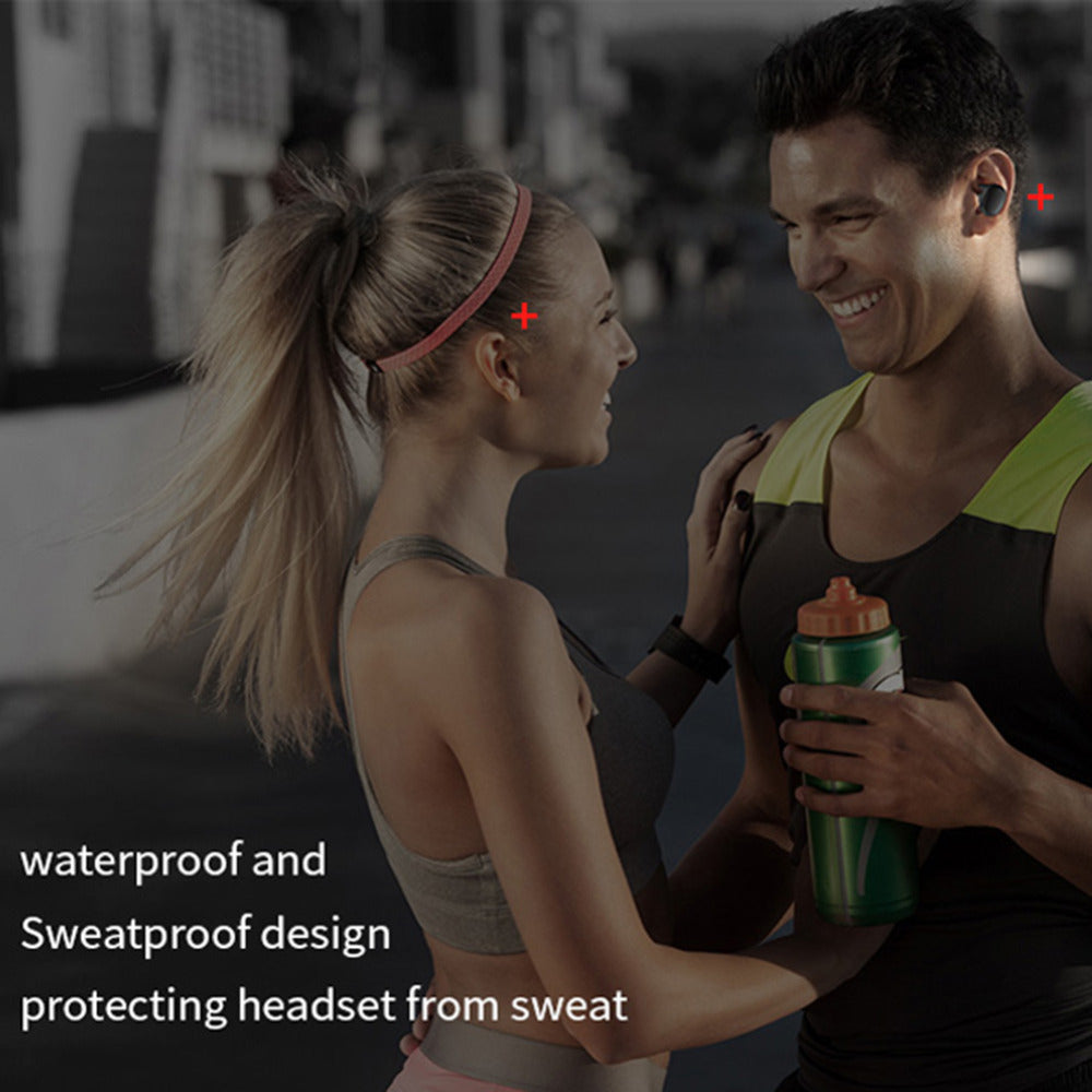 Waterproof Wireless Headphones Bluetooth With A Charging Box.