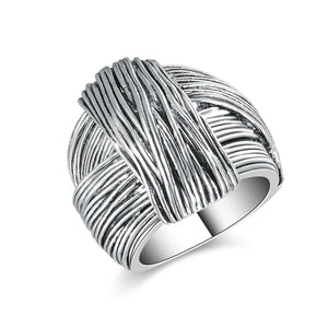 Geometric Hand Made Design White Gold
