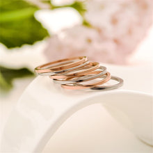 1MM Thin Stainless Steel Silver-color Couple Ring Simple Fashion Rose Gold Finger Ring For Women Anillos R3