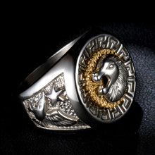 Stainless Steel Silver Lion head Rings