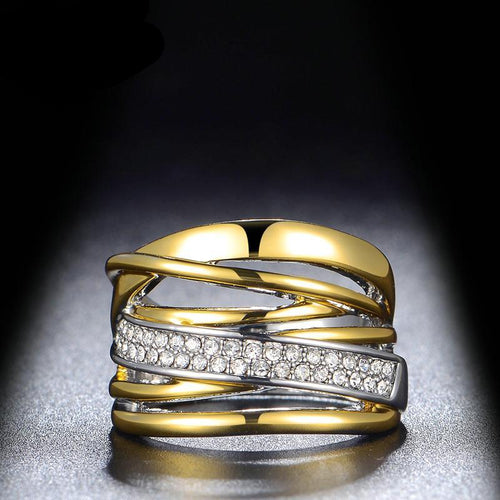 Irregular Layers Chunky Ring For Women  and GP Ring with Gift Box