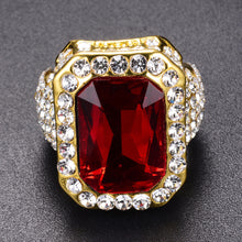 2018 Popular Elegant Red Diamond Gold Ring