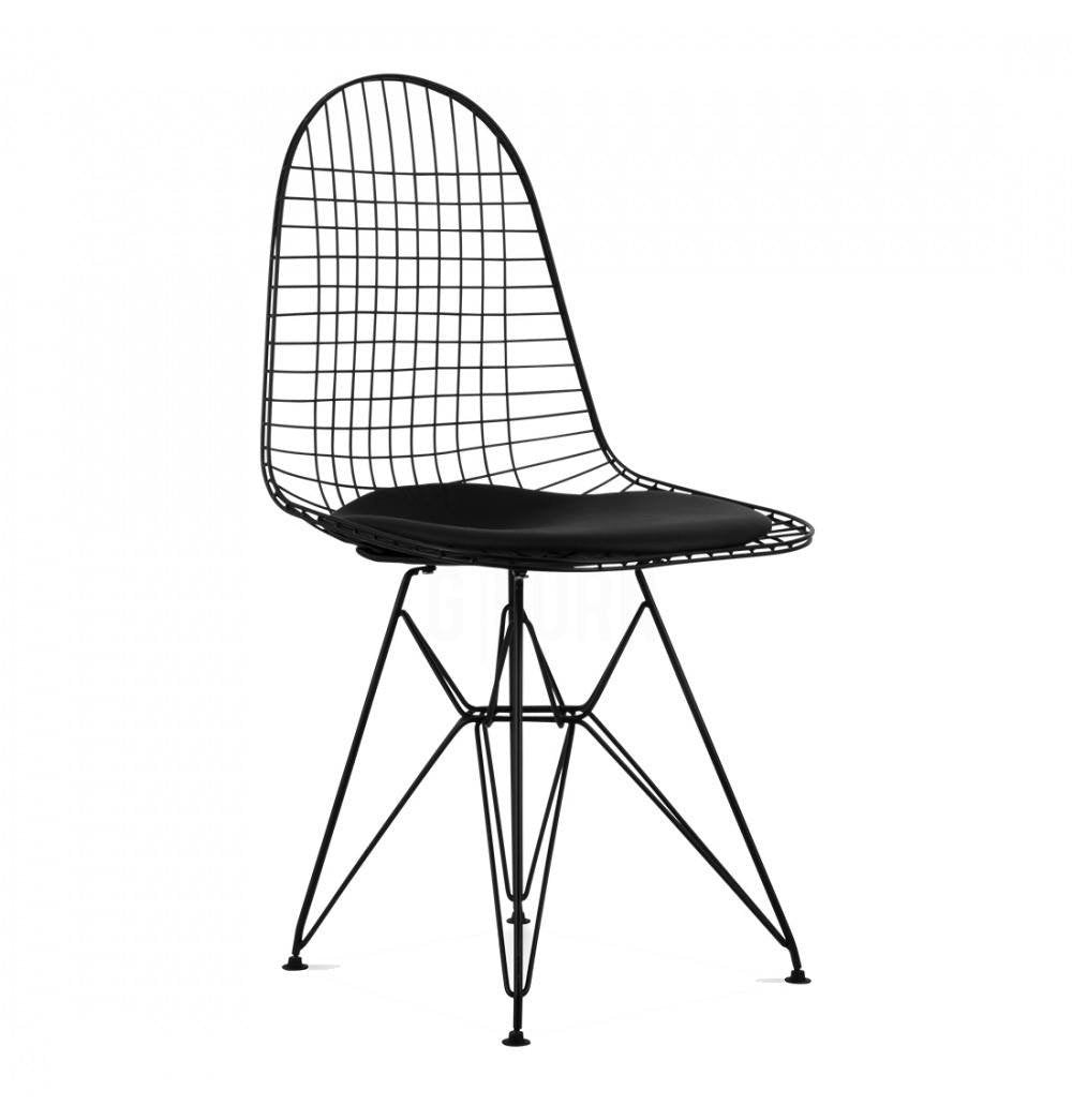 DKR Eiffel Black Wire Chair - Reproduction