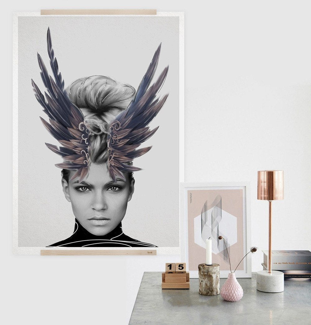 Crown of Feathers Print
