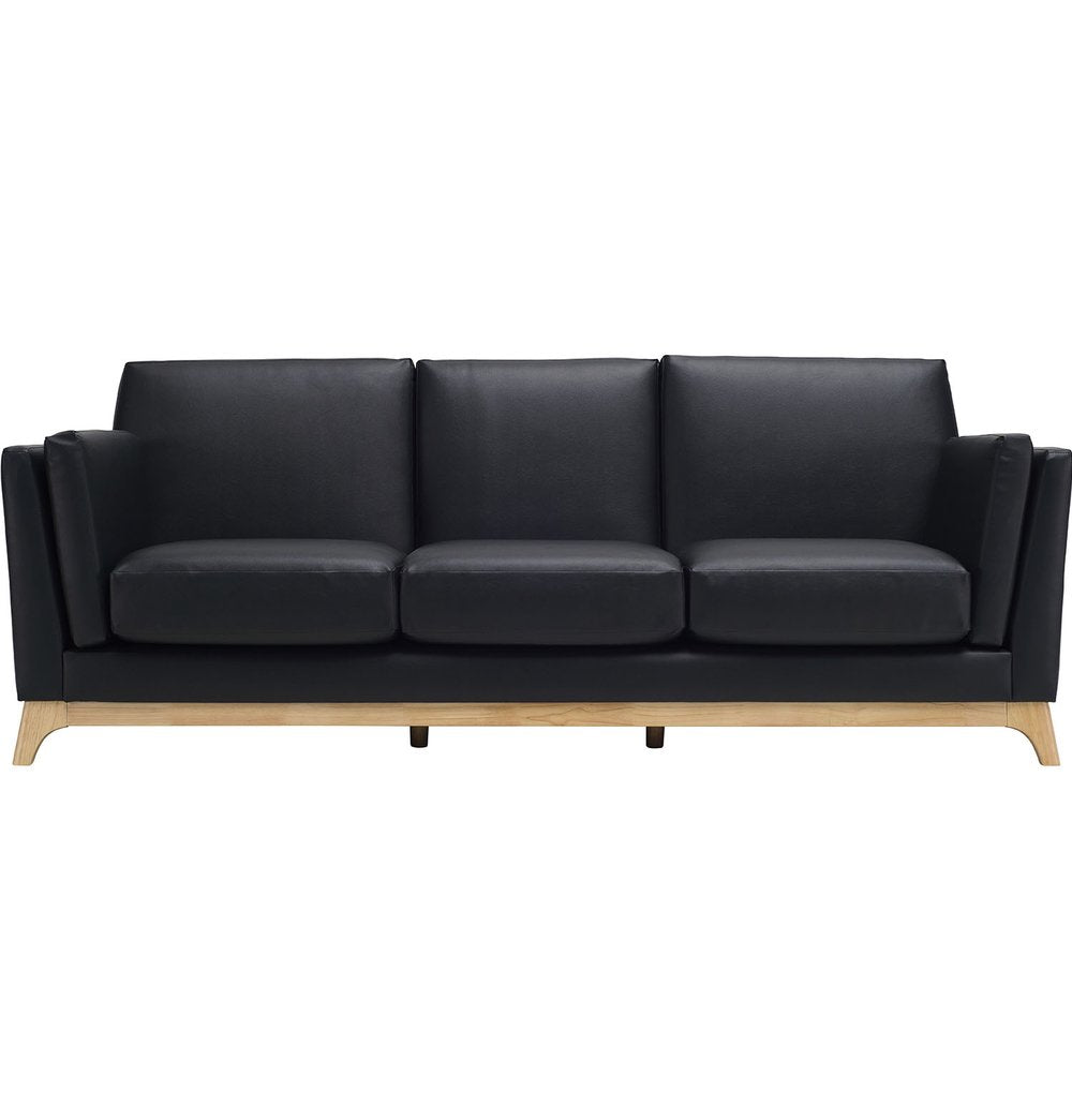 Chloe 3 Seater Sofa - Espresso & Natural