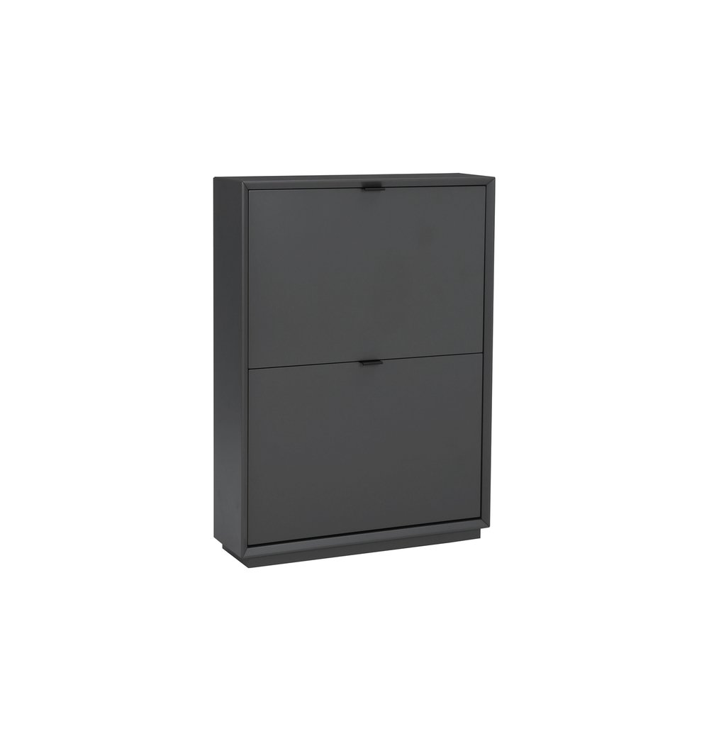 Liko 2-Door Shoe Cabinet - Gunmetal Grey