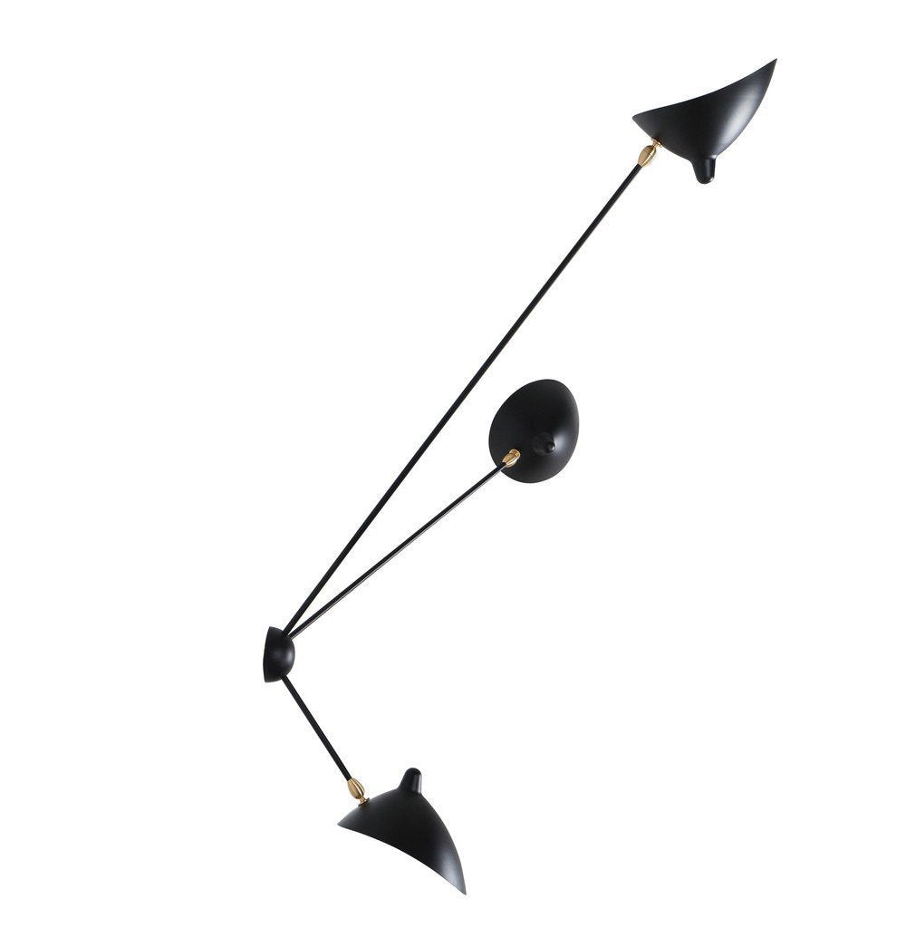 Serge Three-Arm Spider Sconce Wall Lamp - Reproduction