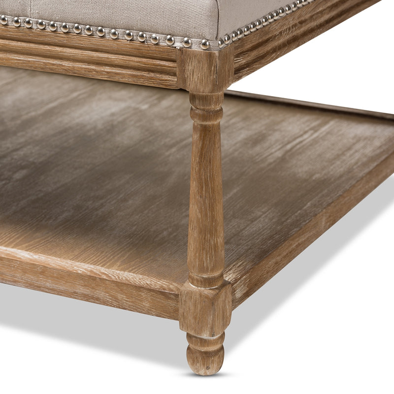 French Country Ottoman Bench - RoomsandDecor.com