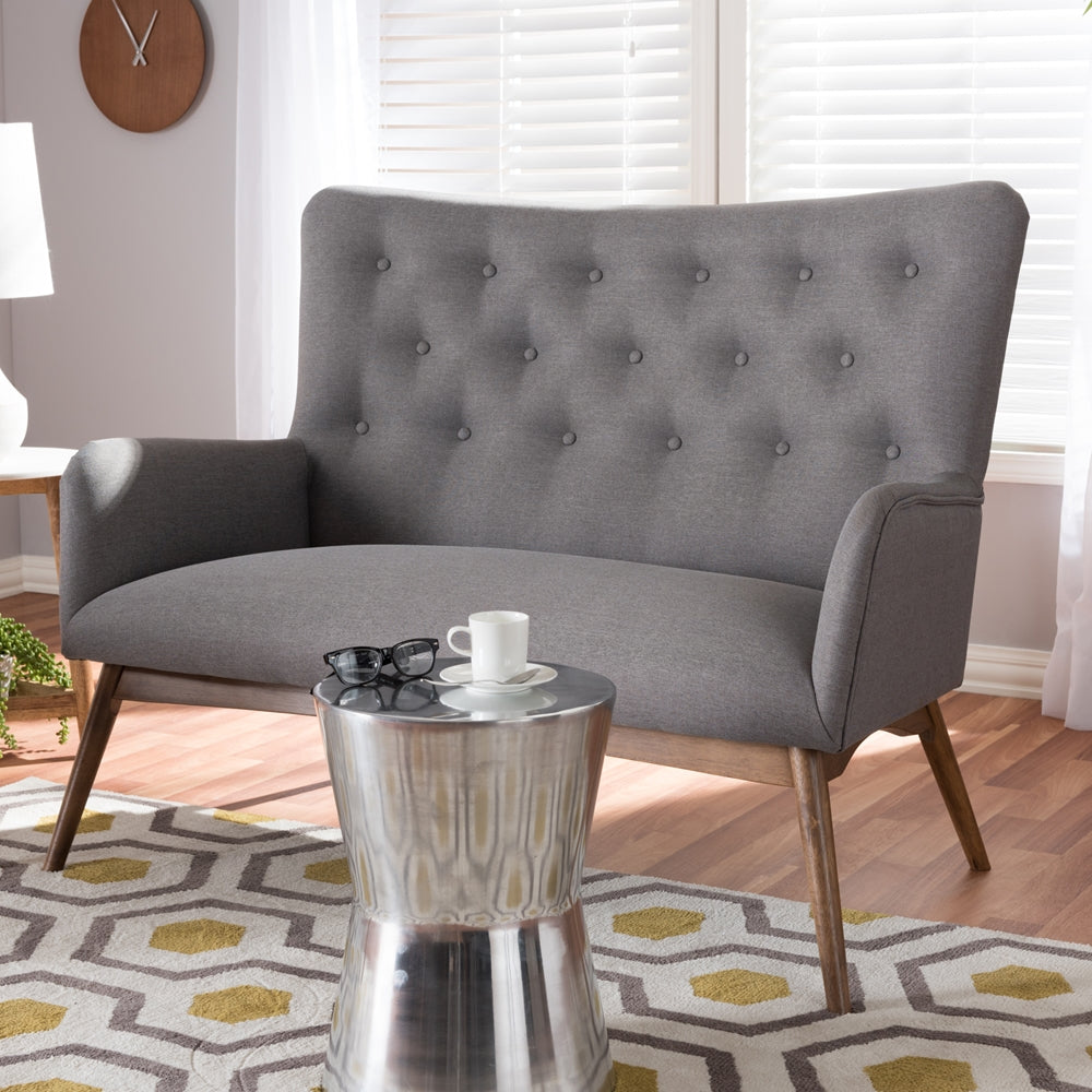 Adair Mid-Century Loveseat - RoomsandDecor.com