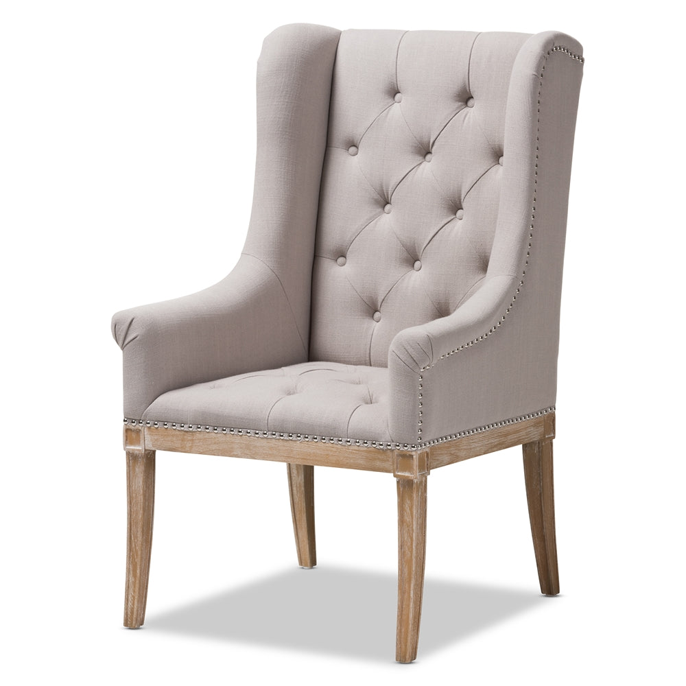 Cedulie French Provincial Oak Lounge Chair - RoomsandDecor.com