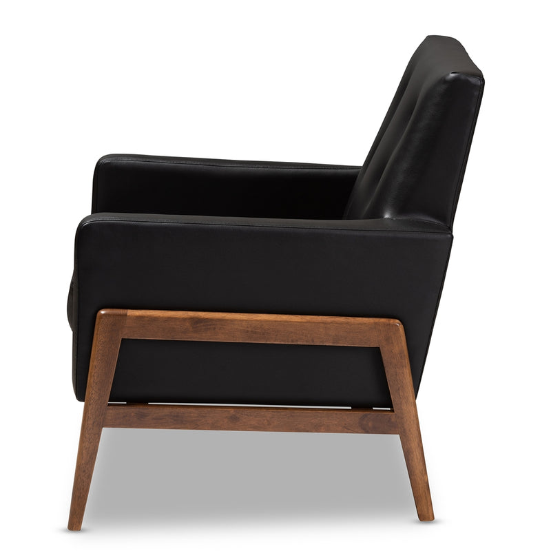 Perris Faux Leather Lounge Chair - RoomsandDecor.com