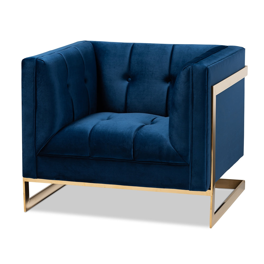Chelsea Navy Blue Armchair - RoomsandDecor.com