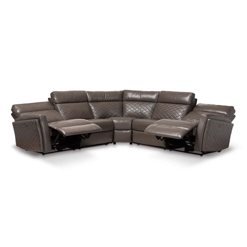 Bexley USB Ports Faux Leather Sectional - RoomsandDecor.com