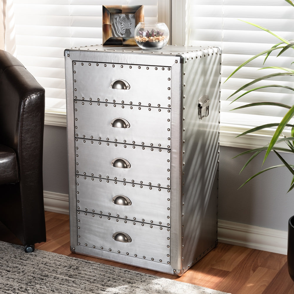 Metal 5-Drawer Accent Chest - RoomsandDecor.com
