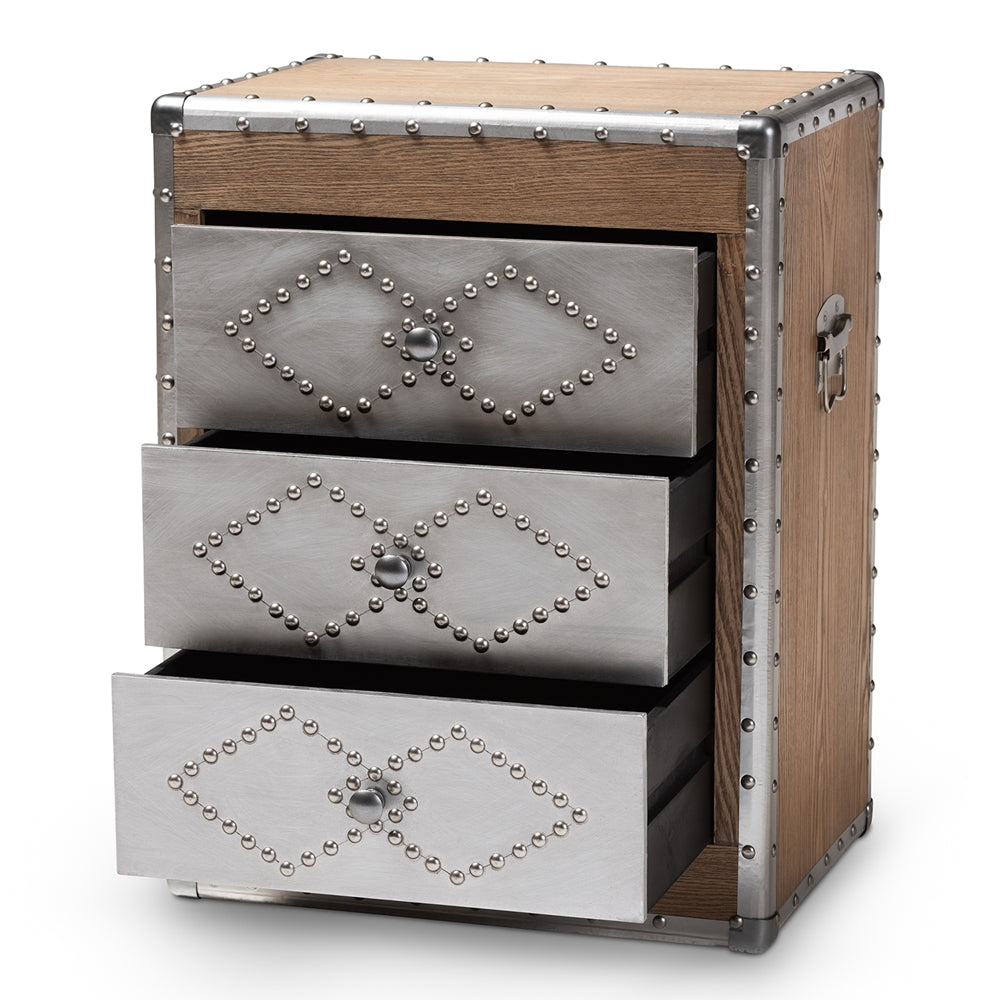 Metal 3-Drawer Accent Chest - RoomsandDecor.com