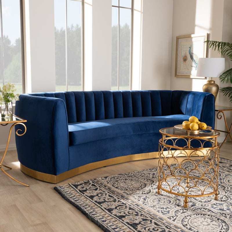 Soho Glam Gold-Finished Sofa - RoomsandDecor.com