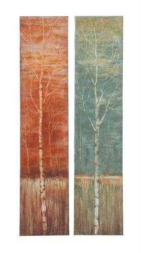 Trees Contemporary Styled Canvas Art 2 Assorted - RoomsandDecor.com