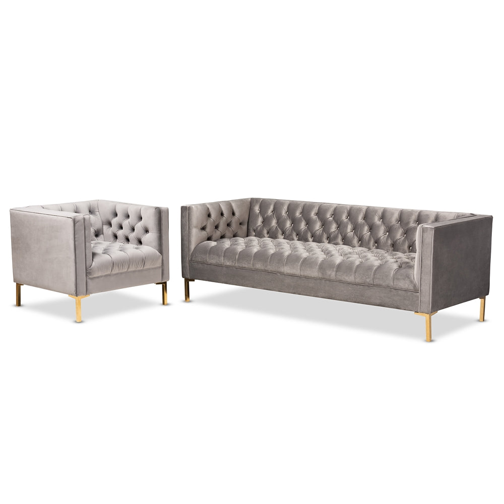 Paris 2-Piece Sofa and Lounge Chair Set - RoomsandDecor.com