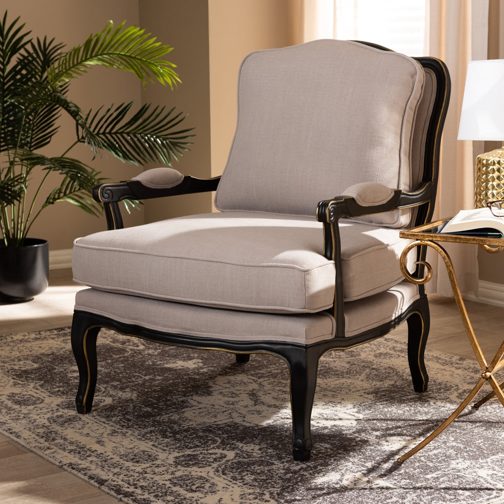 Antoinette Classic Antiqued French Accent Chairs - RoomsandDecor.com