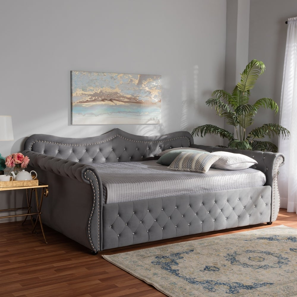 Abbie Traditional and Transitional Daybed - Blue - Full