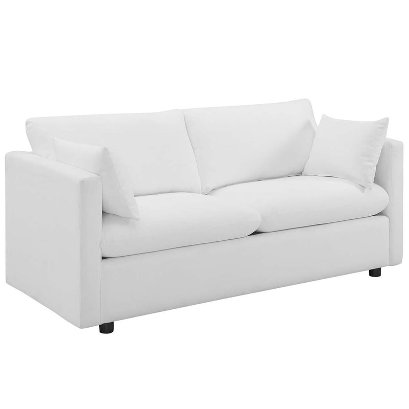 Activate Upholstered Fabric Sofa - Azure
