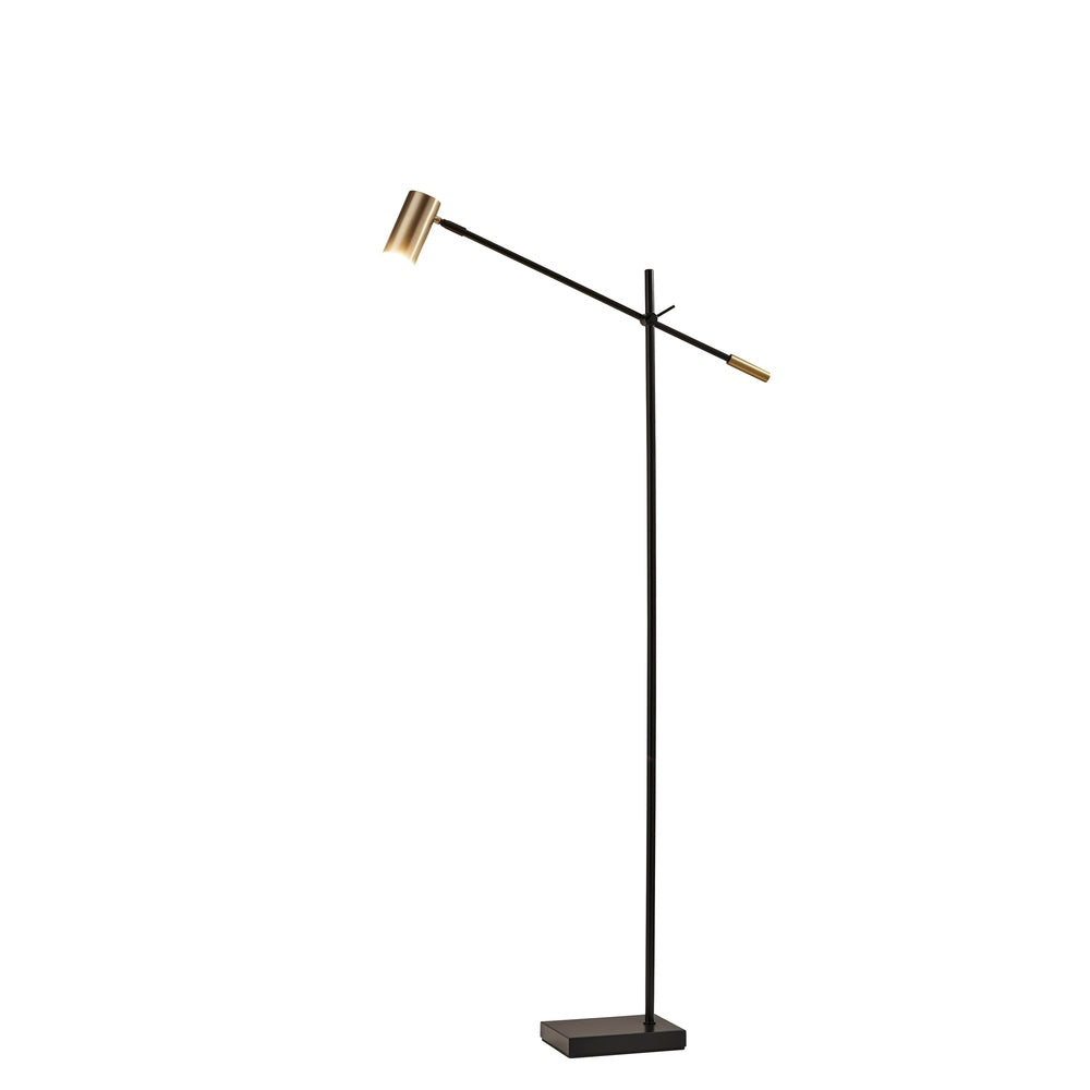 Adesso Collette Adjustable Arm Dimmable LED Floor Lamp - Brushed Steel