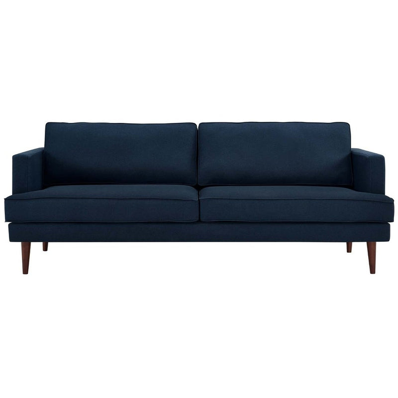 Agile Upholstered Fabric Sofa - Blue