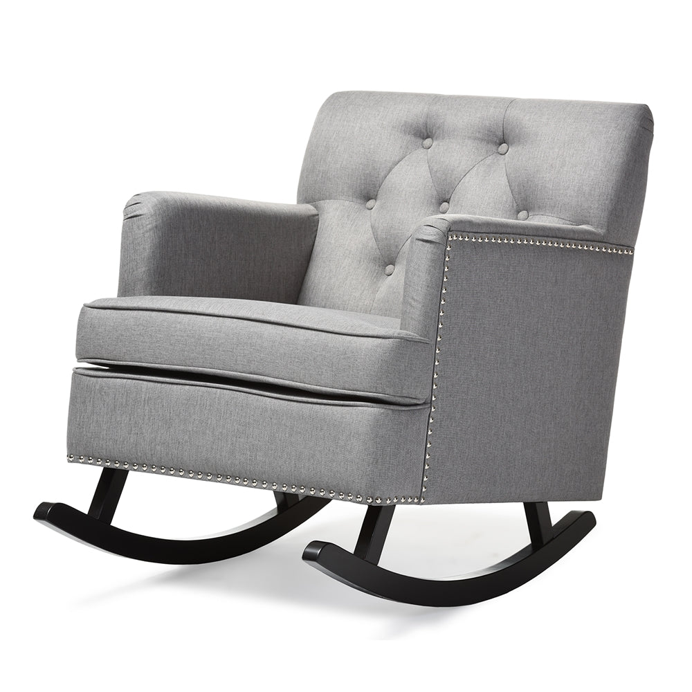 Faye Contemporary Fabric Rocking Chair - RoomsandDecor.com