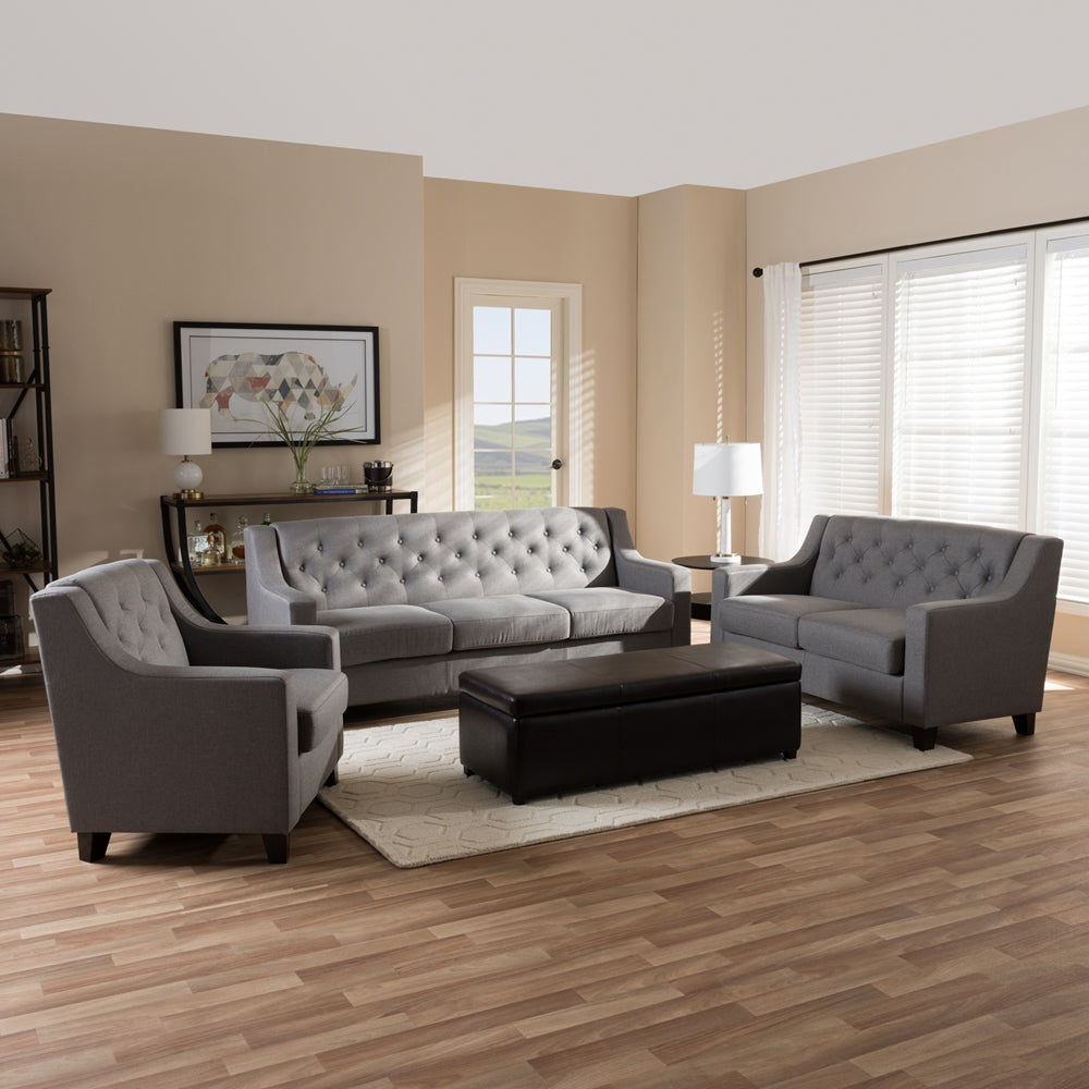 Aburn 3-Piece Living Room Sofa Set - RoomsandDecor.com