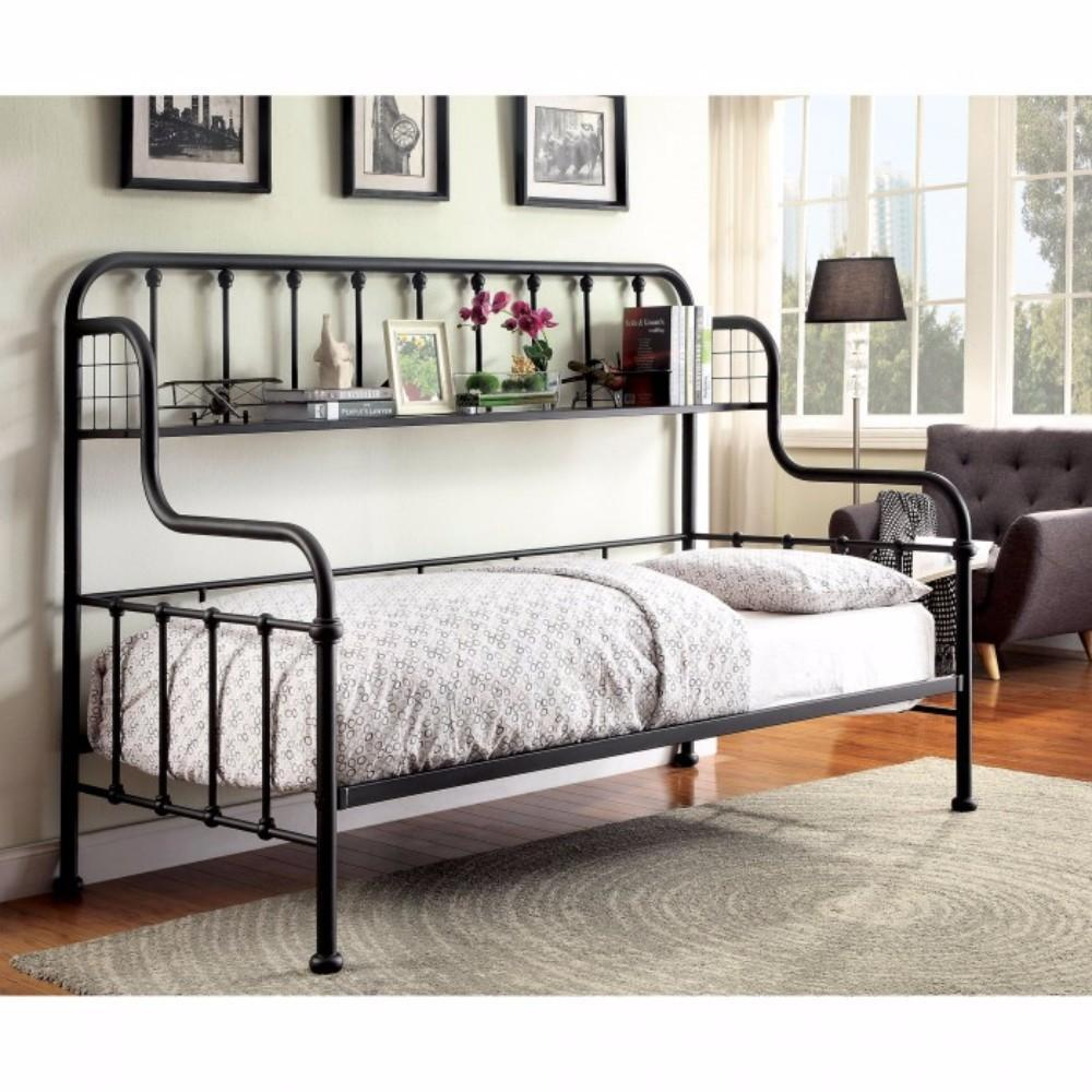 Tia Contemporary Style Black Metal Daybed