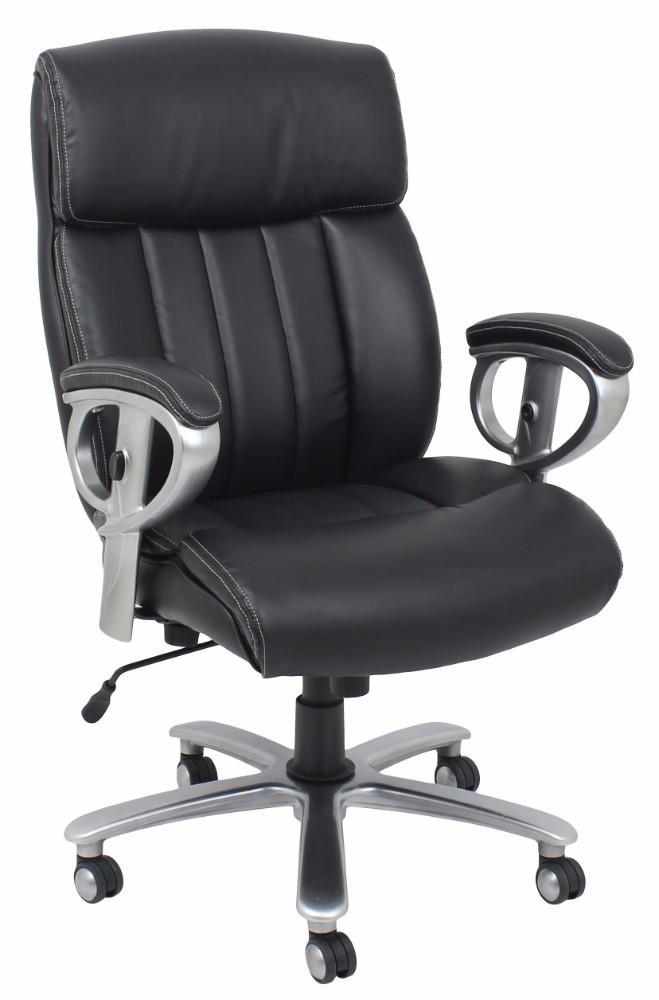 Kera Office Chair with Pneumatic Lift, Black Bonded Leather Match