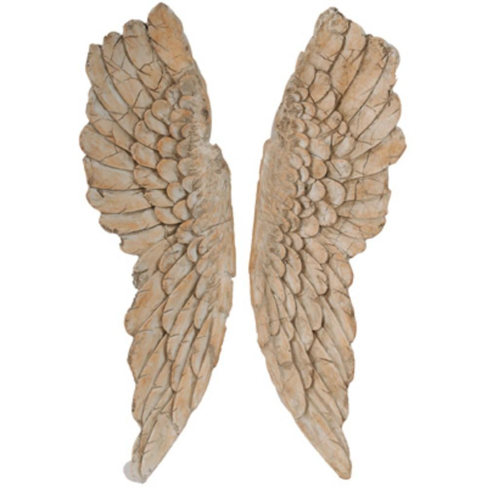 Angel Wings Statue Wall Art, Set of 2, Brown - BM165620 - RoomsandDecor.com